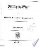 Intelligenzblatt des Rheinkreises