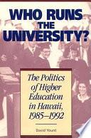 Who Runs the University