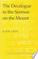 The Decalogue in the Sermon on the Mount