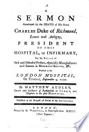A Sermon Occasioned By The Death Of His Grace Charles Duke Of Richmond