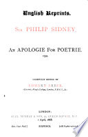 An Apologie for Poetrie  1595
