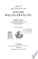 Dictionnaire malais francais par l abbe P  Favre