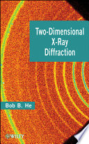 Two Dimensional X Ray Diffraction