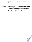 Stage 1 disinfectants and disinfections byproducts rule what does it mean to you