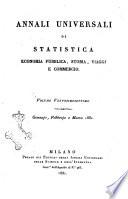 Annali universali di statistica  economia pubblica  storia  viaggi e commercio
