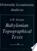 Babylonian Topographical Texts