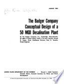 Conceptual Design of a 50 MGD Desalination Plant