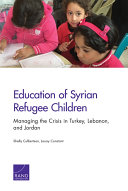 Education of Syrian Refugee Children