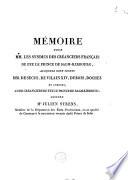 Mémoire pour MM. les syndics des créanciers français de feu le prince de Salm-Kirbourg ... contre Julien Strens