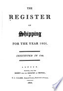 The Register of Shipping for the Year