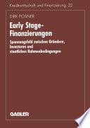Early Stage Finanzierungen