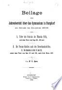 Ueber den Octavius des Minucius Felix