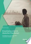 Erwachsenwerden im deutschen Pop-Roman: Der Reifeprozess der Protagonisten in Faserland, Soloalbum & Co