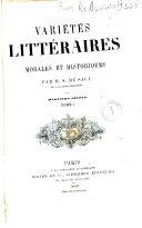 Variétés littéraires, tome second