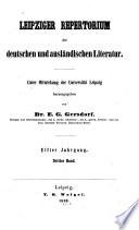 Leipziger Repertorium der deutschen und ausländischen Literatur