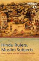 Hindu Rulers Muslim Subjects