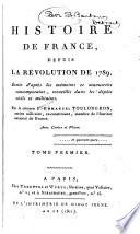 Histoire De France Depuis La R Volution De 1789