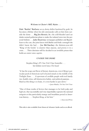 Under the Dome: A Novel - ISBN:9781439149034