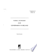 Family Economy And Government In Ireland