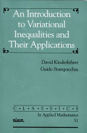 An Introduction to Variational Inequalities and Their Applications