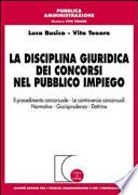 La disciplina giuridica dei concorsi nel pubblico impiego