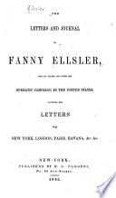 The Letters and Journal of Fanny Ellsler
