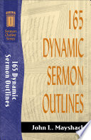165 Dynamic Sermon Outlines Sermon Outline Series