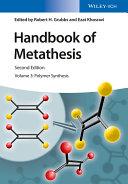 Handbook of Metathesis, Volume 3