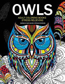 Owls Adult Coloring Books Stress Relieving