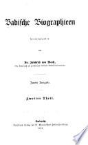 Badische Biographieen