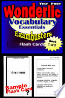 Wonderlic Test Prep Essential Vocabulary  Exambusters Flash Cards  Workbook 1 of 3