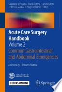 Acute Care Surgery Handbook