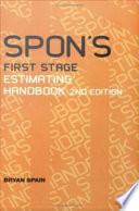 Spon S First Stage Estimating Handbook Second Edition