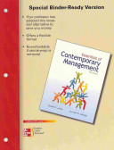 Loose Leaf Essentials of Contemporary Management