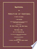 Lyttleton  His Treatise of Tenures in French and English