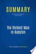 Summary  The Richest Man in Babylon