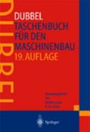 Taschenbuch f  r den Maschinenbau