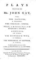 download ebook plays written by mr. john gay ... to which is prefixed an account of the life and writings of the author pdf epub