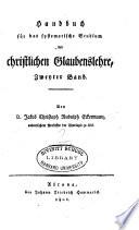 Handbuch für das systematische Studium der christlichen Glaubenslehre