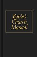 Baptist Church Manual