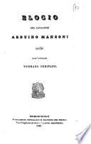Elogio del cavaliere Arduino Mangoni scritto dall avvocato Tommaso Perifano