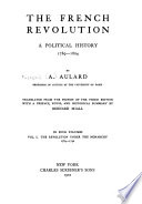 The French Revolution  a Political History  1789 1804