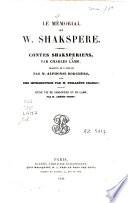 Le Mémorial de W. Shakspere