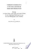 Reformationsgeschichtliche Studien und Texte