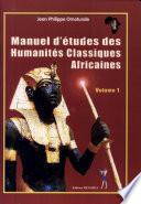 illustration Manuel d'études des humanités classiques africaines