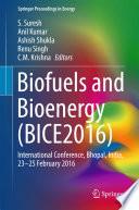 Biofuels and Bioenergy  BICE2016