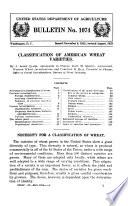 Classification of American Wheat Varieties