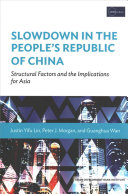 Slowdown in the People s Republic of China