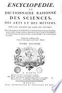 Encyclopédie; ou Dictionnaire raisonné des sciences