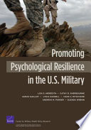 Promoting Psychological Resilience In The U S Military